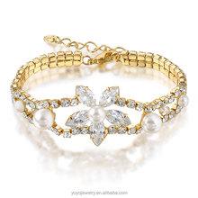 india handmade jewelry brass cubic zircon stone women bracelet