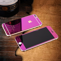 elctroplating front and back mirror tempered glass screen protector for iphone 6s plus