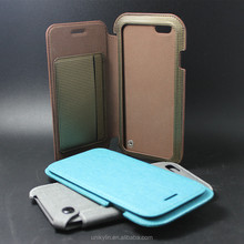 New design hot novel leather case for iphone 6,leather belt clip flip wallet case for iphone 6,leather cell phone case