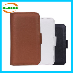 Hotselling pu leather flip wallet case with stand cover case for samsung s5 / s6 / note 2 / note 3 / note 4