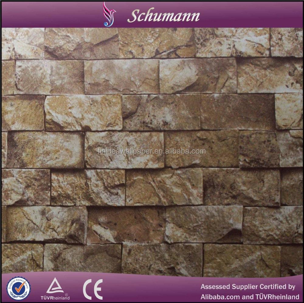 Nieuw ontwerp 3d pvc behang steen baksteen wallpapers/wand coating ...