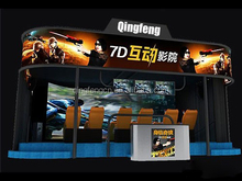 Qingfeng 2015 popular cinema theater equipment 7d cinema simulator for sale