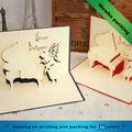 el festival 3d de felicitación de cumpleaños de regalo de papel de tarjetas