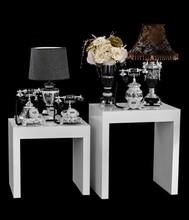 Luxury Black Resin Modern Fashion wedding tray decoration From China Factory