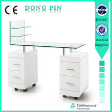 nail spa cheap glass top manicure table