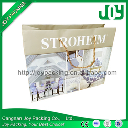 Hot sale Customized Paper shopping bag, shopping gift paper bag wholesale