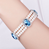 Crystal From Swarovski Wholesale Fashion Women Wrap Freshwater Pearl Bangle