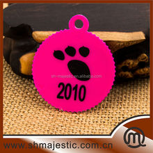 Promotional gift colorful plastic key tags pet keychain