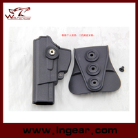 Pistol Holster With Magazine Paddle /Glock 19 17 Gun Holster Black color