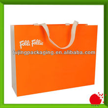 High quality paper shopping bag with gold logo