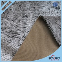 warm & soft brown 100%polyester soft fur bonded fleece fabric