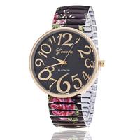 2015 new stylish designed big digital number geneva watch with colourful strap