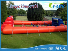 inflatable soccer pitch for match / rent a football pitch / inflatable football game pitch