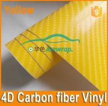 Super quality stylish 4d glossy carbon fiber vinyl for cars