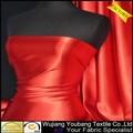 frete grátis recém longo de cetim vermelho vestido de noite tecido