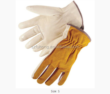 High Quality and best price Grain Leather palm Split Back Driver's working Glove