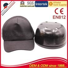 classical design blank black baseball cap safety helmet