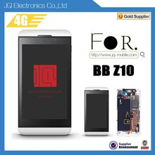 2015 Hotsale Mobile Phone Accessories Front Retina LCD Display And Digitizer With Frame Assembly For Blackberry Z10 4G Version