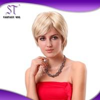 fashion design elegant style european blonde wigs short hair for charming women