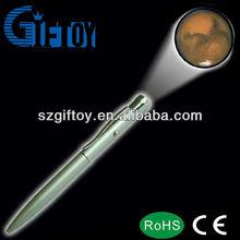 LED lighting ballpoint projector pen for writing