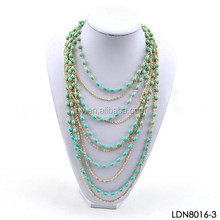 Totally by Handmade Alloy Strands Mini-Beaded Necklace