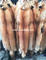 Factory Wholesale Fabric Material Fox Skin Natural Red Fox Fur Skin