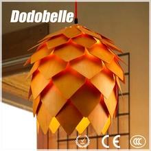 modern industrial Acorn shape natural style wooden vintage pendant lamp/lighting