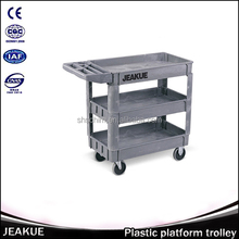 250kg Three Layers Multi-function Plastic Utility Platform Trolley