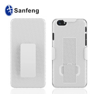 Newest fashion supper combo phone cover for iphone 6 holster heavy duty cases with kickstand