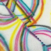 white and black stripe printing polar fleece fabric with anti pills