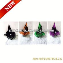 2013 new design halloween witch hat headband with Hair Clips