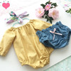 Baby romper wholesale new born baby girl clothes baby headband and bloomer with romper set children remake outfit