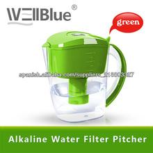 Wellblue Purificador de agua doméstico jarra filtradora de agua tratamiento de aguas ph alto