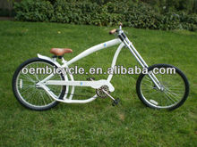 24inch white professional comfort chopper style bicycle