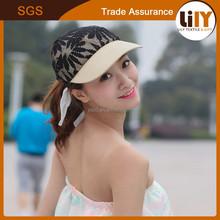 fashionable newest baseball cap plain dyed with fashion mesh lace flower