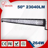 Super bright car led lightbar, 50inch 264w led light bar in hybrid beam