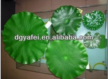 Artificial EVA green water lotus leaf,decorative water lily leaf