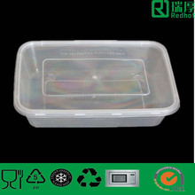 Eco friendly Walmart Food Grade disposable new clear plastic lunch box 500ml