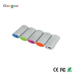guoguo portable power bank 5000mah & rubber/ hot selling rock powerbank