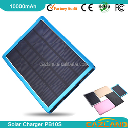 PB10S oem solar power bank supplier/metal solar power bank 10000mAh made in China