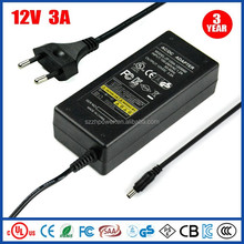 12V 3A Universal Power Switching Supply UL LED Laptop Power Transformer Factory Direct Sale