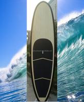 2015 New Design fiberglass bamboo surf novelty paddle board sup paddle manufacturer