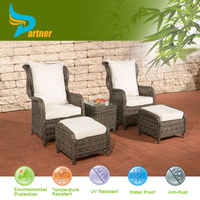 Wholesale Rattan Cube Garden Furniture Unfold Sleeping Reclining Rattan Meditation Chair White Cushions For Recliner
