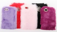hot selling and low price new design soft fur phone case for samsung S5