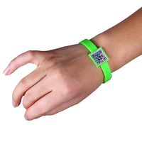 oem design silicone customized qr code bracelet