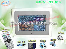 10 inch digital picture frame with USB / HD digital photo frames user manual