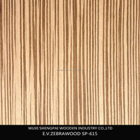 china famous 0.5mm thickness laminated zebrano wood commercial face veneer for interior doors