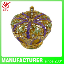 Antique items in india beautiful Favor metal box in china for wedding box(QF2044)
