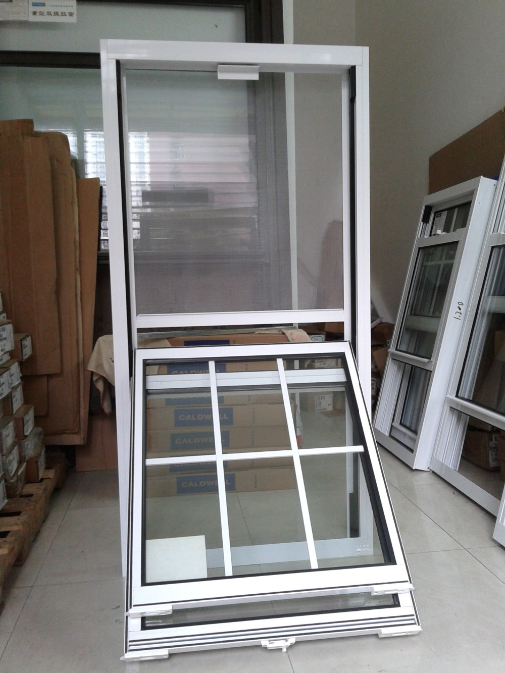 doble de aluminio ventanas de guillotina con diseo de la parrilla