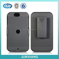 Black Rubberized Hard Case Belt Clip Holster Shell Combo Stand Case for Motorola XT626